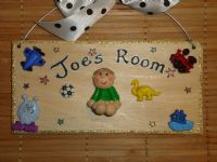 3d Single Character Boys Toys Family Sign Personalised Bedroom Playroom Wendyhouse Playhouse Any Phrasing